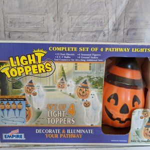 Empire pumpkin light toppers pathway blow mold Hal
